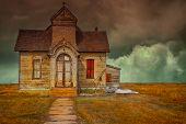 Nice Image Of a abandoned vintage Mormon church