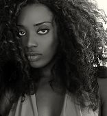 Beautiful Image of a Afro American Glamour Model
