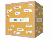 Literacy 3D Cube Corkboard Word Concept