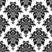 Ornate bold foliate seamless pattern