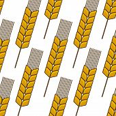 Seamless background pattern of an ear of wheat