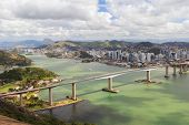 Third Bridge (terceira Ponte), Panoramic View Of Vitoria, Vila Velha, Brazil