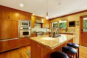 Large Kitchen Room With Island