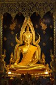 Gold Buddha Image Name Is Phra Buddha Chinnarat At Phra Si Rattana Mahathat Temple ,phitsanulok In T