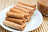Tong Muan, Traditional Dessert In Thailand.