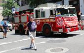 FDNY truck at LGBT Pride Parade in New York City