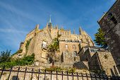 image of mont saint michel  - View at the Monastery of Mont Saint - JPG