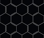 Abstract Seamless Chemical Background - Pattern On Black