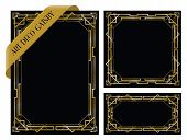 picture of intersection  - a set of three art deco gatsby backgrounds - JPG