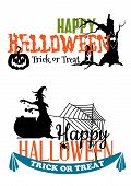 picture of eerie  - Eerie Halloween themed banners with witch - JPG
