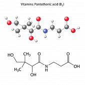 Pantothenic Acid Molecule - Vitamin B5
