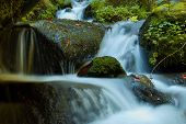 Waterfall - Cascade In The Autumn Forest