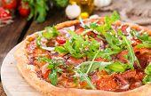 Homemade Ham Pizza