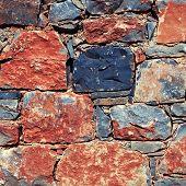 Rough Mediterranean Stone Wall As Background