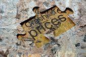 Crash Prices Puzzle Concept