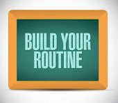 Build Your Routine Message Illustration Design