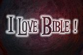 foto of adam eve  - I Love Bible Concept text on background - JPG