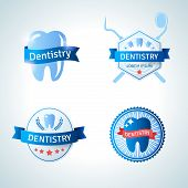 Dental emblem collection for dentistry and orthodontics.