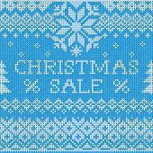 Christmas Sale: Scandinavian style seamless knitted pattern