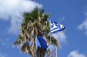 Flags Of Greece And The European Union