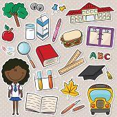 African-american School Girl