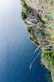 Rock face bordering Lake Garda. Northern Italy