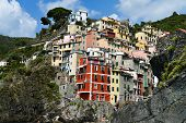 Traditional Mediterranean Architecture Of Riomaggiore, Italy