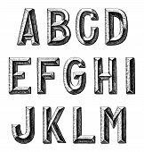 foto of hand alphabet  - hand draw sketch alphabet design - JPG
