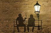 stock photo of street-art  - coffee story art on the wall series - JPG