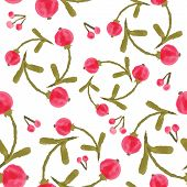Handpaint watercolor vector seamless pattern