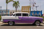 Classic american car in the streets of Havana, Cuba