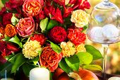 Flowers To Decorate The Holiday Table.