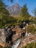 Buachaille Etive Mor And Waterfalls