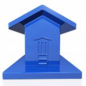 Blue Plastic Model Of A House