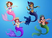 Cute Mermaid Underwater