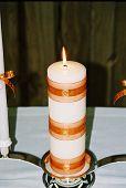 pic of unity candle  - Orange - JPG