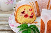 Lemon And Caraway Seed Bundt Cake With Raspberries