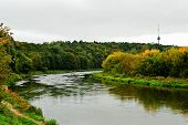 Neris River In The Vilnius City Zverynas District
