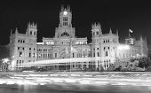 Madrid Downtown By Night. Cibeles Fountain. Spain