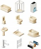pic of shower-cubicle  - Set of the icons representing building products - JPG