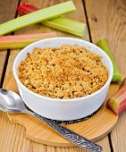 Crumble With Rhubarb On Board