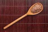 Wooden Spoon With Flax Seed
