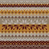 Scandinavian style seamless knitted pattern. Colors: yellow, whi