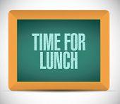 Time For Lunch Message Illustration Design