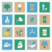 Ecology Flat Icons Set