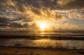 Sunrise on the ocean, Hawaii