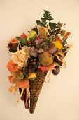 Fall Harvest Fruit Cornucopia
