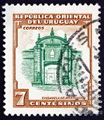 Postage Stamp Uruguay 1954 Montevideo Fortress