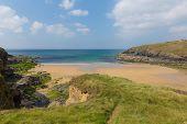Poldhu beach The Lizard Cornwall England UK
