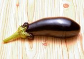 eggplant on wooden table